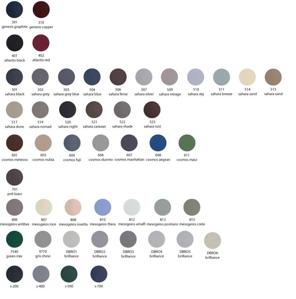 europa color palette mettalic