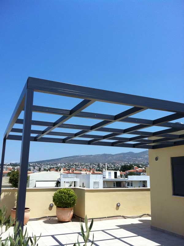 Aluminum Pergola - Patio in Athens | METALOWOOD