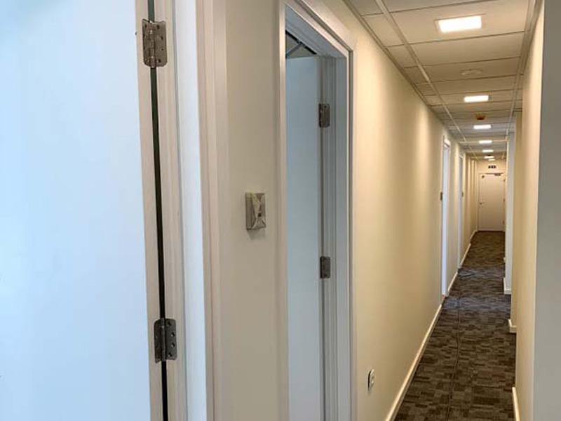 Installing fireproof wooden doors at the Nordland Copenhagen Hotel